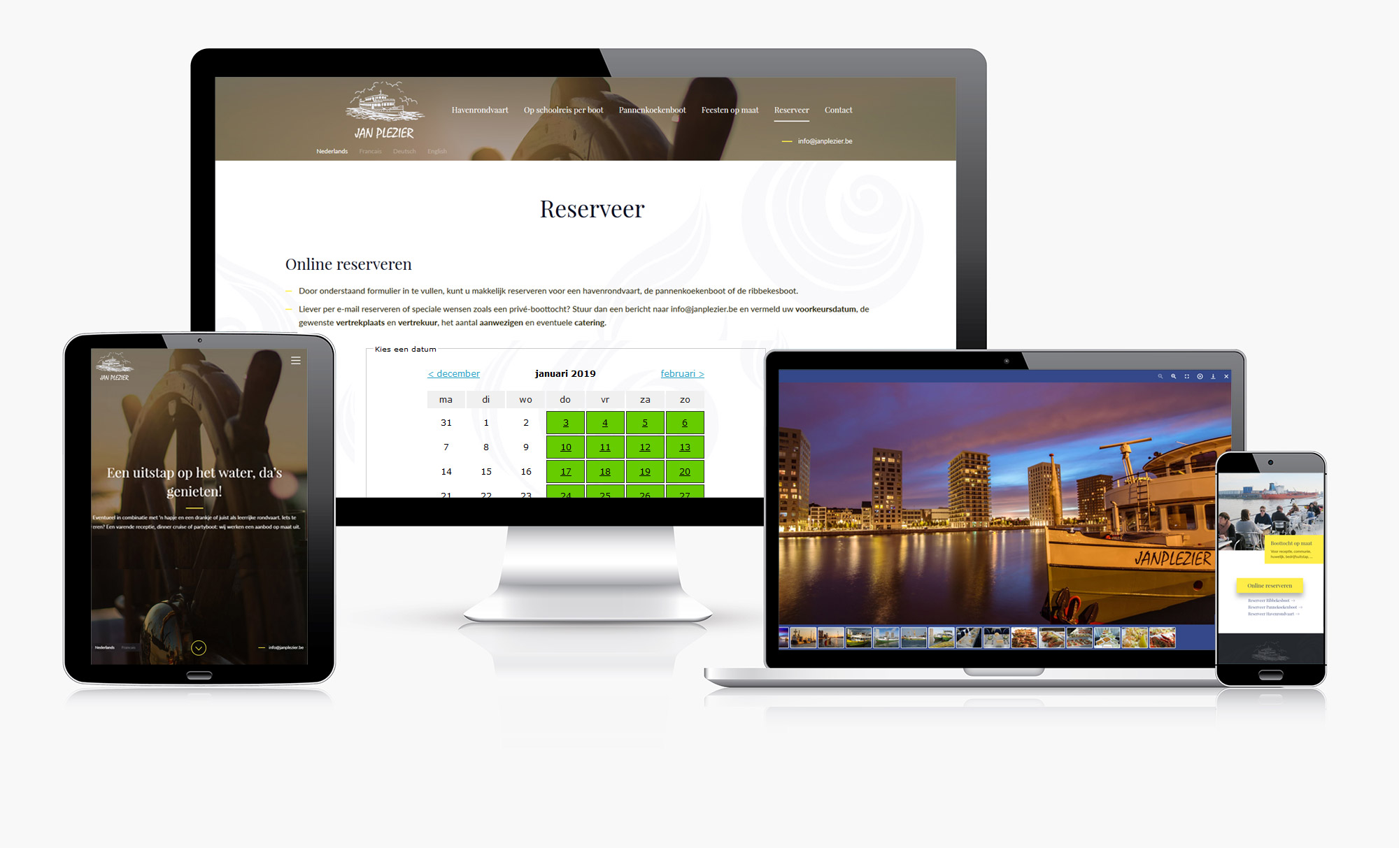 Responsive website Jan Plezier